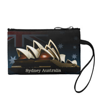 Sydney opera house at night change purse
