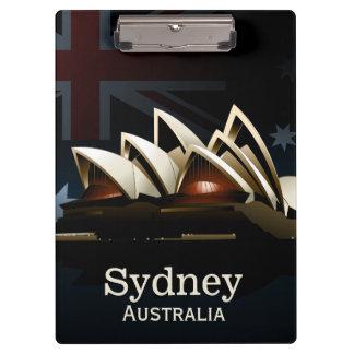 Sydney opera house at night clipboard