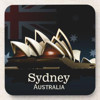 Sydney opera house at night coasters