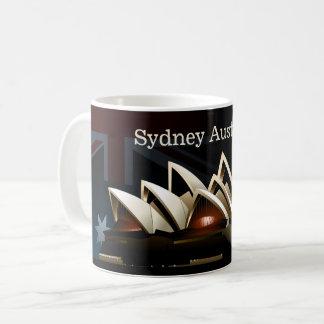 Sydney opera house at night coffee mug