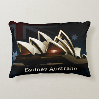 Sydney opera house at night decorative pillow