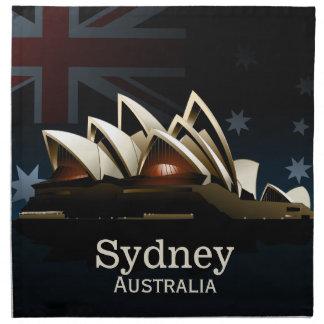 Sydney opera house at night napkin