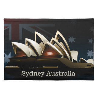 Sydney opera house at night placemat