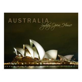 Sydney Opera House at night Postcard