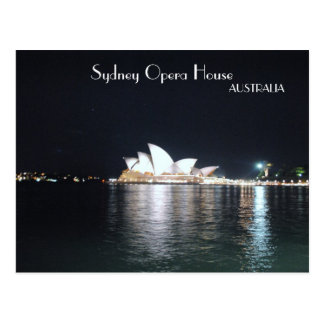 Sydney Opera House at night Postcard