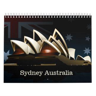 Sydney opera house at night wall calendars