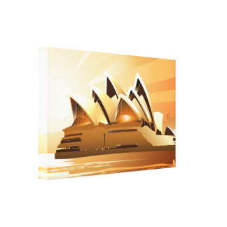 Sydney Opera House at sunrise Canvas Print