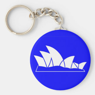 Sydney Opera House Basic Round Button Keychain