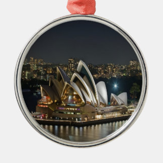 Sydney Opera House beauty and peace Metal Ornament
