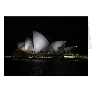 Sydney Opera House by night Card