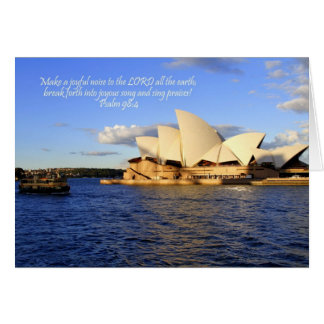 Sydney Opera House Card with Bible verse