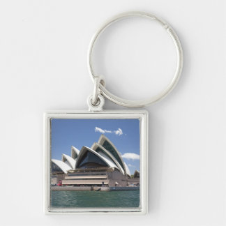 Sydney Opera House exterior, Sydney, New South Silver-Colored Square Keychain