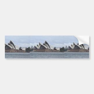 Sydney Opera House In Sunlight Backed By Cloud Bumper Sticker