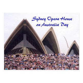 Sydney Opera House on Australia Day Postcard