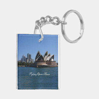 Sydney Opera House Square (double-sided) Key Chain