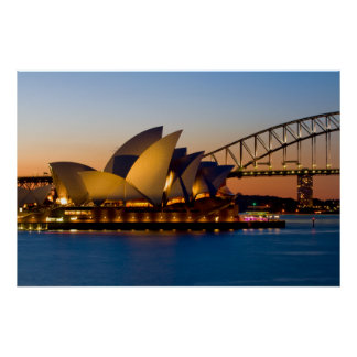 Sydney Opera House & Sydney Harbor Bridge Poster