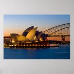 Sydney Opera House & Sydney Harbour Bridge Poster