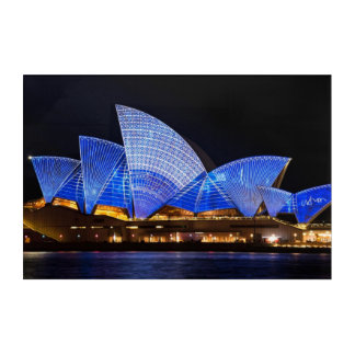 Sydney opera house vivid light show acrylic wall art