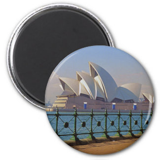 Sydney Opera House with Fence Magnet