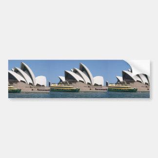 "Sydney Opera House With Sydney Ferry ""Collaroy"" Bumper Stickers"