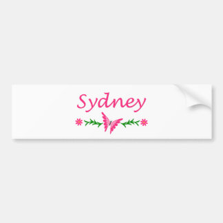 Sydney (Pink BUtterfly) Bumper Sticker