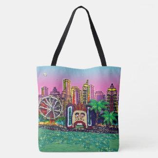 Sydney Pink Sky by Sequin Dreams Studio Tote Bag