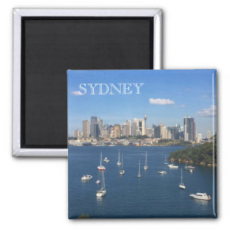 sydney port jackson square magnet