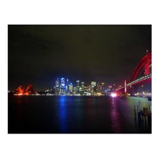 sydney red skyline postcard