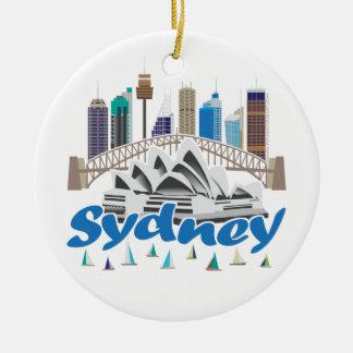 Sydney Skyline Ceramic Ornament