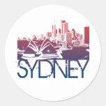 Sydney Skyline Design Round Sticker