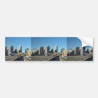 Sydney Skyline From Freeway Near Wool Stores Bumper Sticker