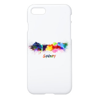Sydney skyline in watercolor iPhone 8/7 case