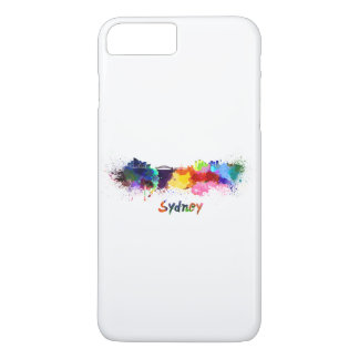 Sydney skyline in watercolor iPhone 8 plus/7 plus case