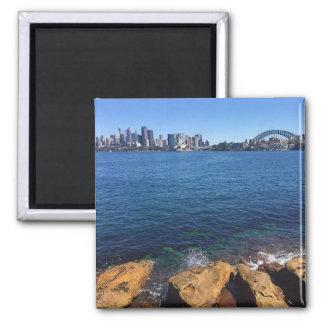 sydney skyline rocks square magnet