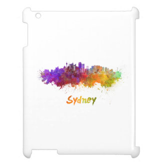 Sydney v2 skyline in watercolor iPad covers