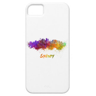 Sydney v2 skyline in watercolor iPhone 5 covers