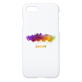 Sydney v2 skyline in watercolor iPhone 8/7 case