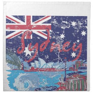 sydney vintage australia cloth napkin