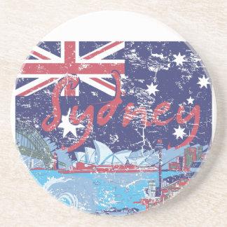 sydney vintage australia drink coaster