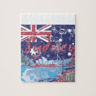 sydney vintage australia jigsaw puzzle