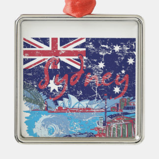 sydney vintage australia metal ornament