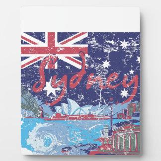 sydney vintage australia plaque