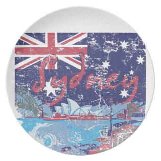 sydney vintage australia plate