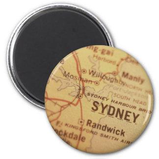 SYDNEY Vintage Map Magnet