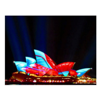 sydney vivid sails postcard