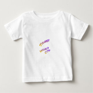 Sydney world city,  colorful text art baby T-Shirt
