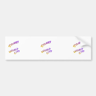 Sydney world city,  colorful text art bumper sticker