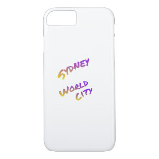 Sydney world city,  colorful text art iPhone 8/7 case