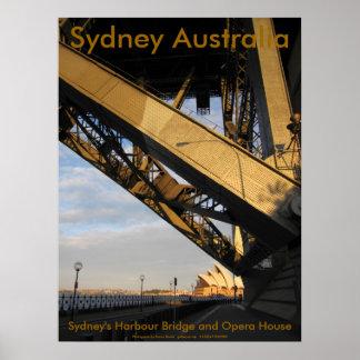 Sydney's Harbour Bridge and Opera House Poster