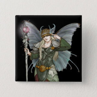 Sylph; Elven master sorceress, by Kathrin Polikeit 2 Inch Square Button